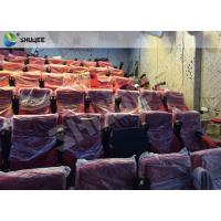 Quality High Definition Film Projector 4D Theather With Movement Chair Orange wholesale