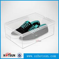 Quality Display Racks Showcase Clear Transparent Acrylic Shoe Box for wholesale wholesale