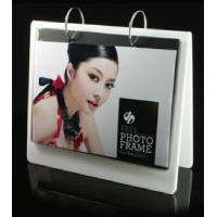 Quality white calender shape acrylic collage photo frames wholesale