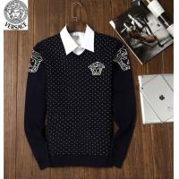 Quality wholesale fashion trend leisure male designer v-ersace round collar long sleeve sweater wholesale