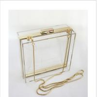 Quality Lucite acrylic clutch box / clear acrylic storage containers For Girls wholesale