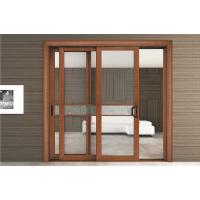 Quality good quality aluminium glass sliding screen door aluminum wooden color sliding door wholesale