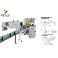 China Auto Shrink Packaging Equipment Stretch Film Wrapping Machine With Tray For Bottle Can on sale