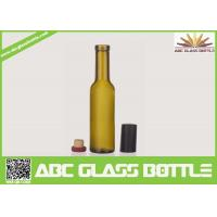 Cheap Factory sale 200ml empty wine glass bottle,custom frosted wine bottle with wooden cap for sale