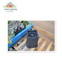 Outdoor Garden Plant Accessories , Square Plastic Flower pots
