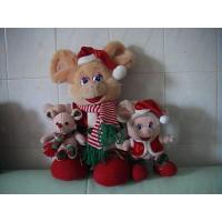 Quality Cute Design Smart Body Christmas Cartoon Mouse Family Series Custom Plush Toys wholesale