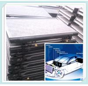 aluminum car radiator with plastic tanks