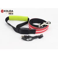 Quality Large Adjustable Safety Rechargeable LED Dog Leash And Collar Set 120cm wholesale