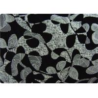 Quality Black Printed Flocked Fabric / Cloth For Home Textile Sofa Pillow wholesale