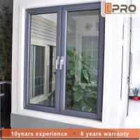 China Vertical Opening Pattern Aluminum Casement Windows With Security System CASEMENT ALUMINIUM WINDOWS casement door on sale
