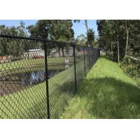 Galvanized / Pvc Coated Garden Chain Link Fence Fabric With Diamond Hole