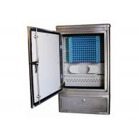 Quality Ground Cross Connect Cabinet Stainless Steel Fiber Optic Equipment Max. 144 Cores wholesale