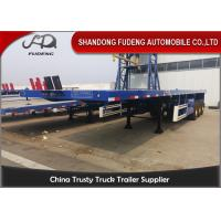 Quality 3 Axles 40 Ft 45 Ft Transport 60 Tons Flatbed Container Trailer  For  Sale wholesale