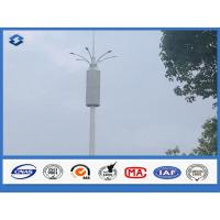 Quality Baseplate ASTM A 633 GRE Communication Pole 6 / 8 side 20 - 56 meters high wholesale