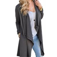 Quality Viscose Blends Womens Long Cardigans Solid High Low Long Sleeve Open Front Cardigan wholesale