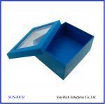 Quality Custom High Quality Paper Shoe Box With PVC Window wholesale