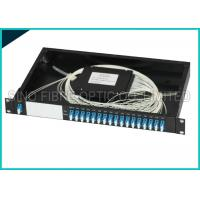 Quality 16 Channel Dual LC 1U 19 Rack Mount Box Fiber Optic CWDM Module Splitter wholesale