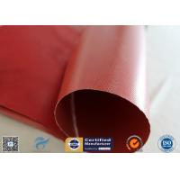 Fire Blanket 480g 0.43mm High Strength Silicone Coated Fiberglass Fabric Red