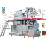 Quality 35KW Stainless Carton Brick Beverage Packaging Machine Beverage Filling Line 125 - 350ml wholesale