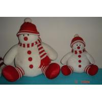 Quality Custom Design Plush Snowman in Red Hat of Personalised Christmas Gifts for Children wholesale