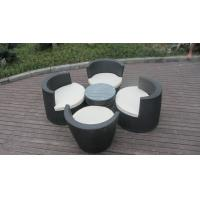 Black Poly Rattan Obelisk Chair For Office / Commercial Building
