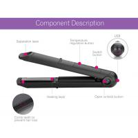Quality Usb Cordless Rechargeable Curling Tools Battery Operated Flat Iron For Outdoor wholesale