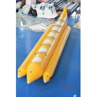 Quality Yellow Color Lake Inflatable Banana Boat Fly Fish With EN15649 For Children wholesale