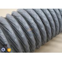 Quality 10M PVC Coated Fiberglass Fabric HVAC Flexible Air Ducting 150MM Diameter wholesale