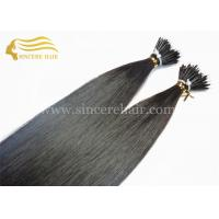 China 22 Double Drawn Pre Bonded Hair Extensions for sale - 1.0 Gram Straight Black Nano Hair Extensions For Sale on sale
