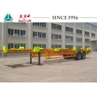 Heavy Duty 50 Tons Skeletal Container Trailer 12420*2480*1540 Dimension