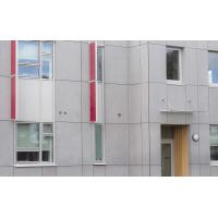 Quality Cellulose Exterior Fiber Cement Board , Light Grey Cement Sheet Wall Panels wholesale