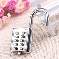 Quality Mini Push Button Code Resettable Combination Padlock 10 Pin Sports Locker wholesale