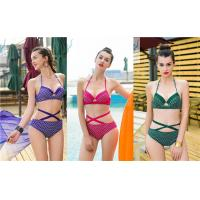 Quality Stretchy Mermaid Two Piece Bathing Suit Breathable Adjustable Halter Straps wholesale
