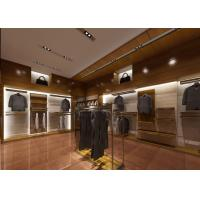 Quality Retail Shop Fixtures / Clothing Display Case Top Grade Grained Veneer Wooden Material wholesale
