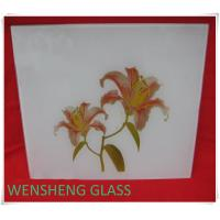 Quality Clear or frosted silk screen glass for interior door , shower screens wholesale
