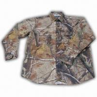 Quality Hunting Shirt with Realtree Camo and Cotton Fabric Shell wholesale