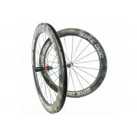 Quality 60mm Carbon Composite Bike 1470g Tubeless Clincher Bicycle Wheel Decals 700C wholesale