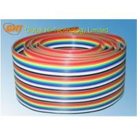 Quality Rainbow Color Ribbon Flat Cable / 26 Pin IDC Flat Cable 2.54 mm Pitch wholesale