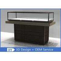 Cheap Half Stain Steel Frame Glass Jewelry Display Case With Custom Logo for sale