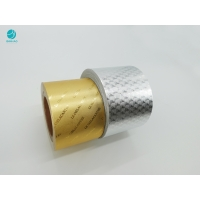 China Embossed Pattern Gold Silver Aluminium Foil Paper For Cigarette Package on sale