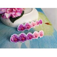 Buy cheap Simple Design Girls Butterfly Hair Clips Jewelry Pink / Purple Color product