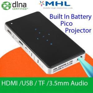 China Handy Mini DLP Slim Projector With HDMI USB MHL DLNA Wifi Display LED Lamp Pocket Beamer on sale