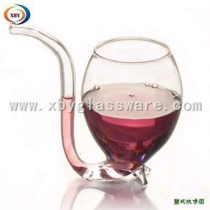 China Borosilicate glass wine cup on sale