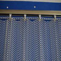 Quality Cascade coil type metal fabric drapery curtain for hotel lobby metallic shower curtain/Metal Coil Drapery/expanded stain wholesale
