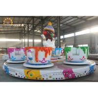 Quality 3.5kw Power Crazy Carnival Rides 6m Diameter 3.5rpm Speed Saucer Tea Cup Design wholesale