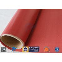Quality Removable Insulation Jacket 0.45mm Red Color 510g Silicone Coated Fiberglass Fabric wholesale