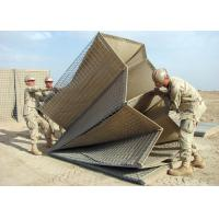 Quality Welded Hesco Barrier / Hesco Bastion / Gabion Mesh Box with brown geotextile for military wholesale