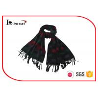 China Multi Color Crocheted Ladies Shawl Wrap For Winter , Acrylic Fabrics Knit Shawl on sale