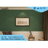 Quality Durable Non woven Wallpaper Removable Material with Dark Green Color wholesale