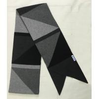 China Intarsia Cable Knit Cashmere Scarf , Triangle Color Block Ladies Knitted Scarves on sale